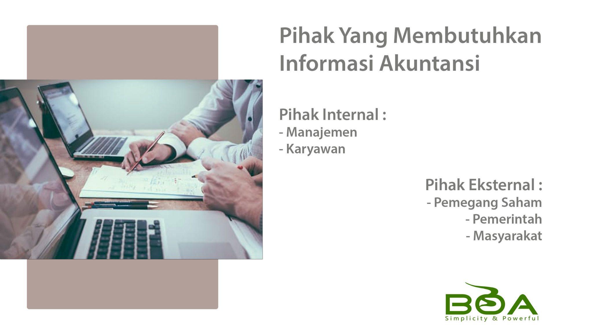 Pihak Yang Membutuhkan Informasi Akuntansi Software Boa Rmasi