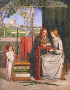The Girlhood of Mary Virgin 1848-9 by Dante Gabriel Rossetti 1828-1882