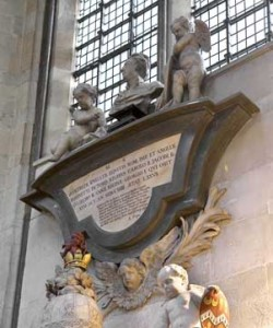 Memorial to Sir Godfrey Kneller, Westminster Abbey