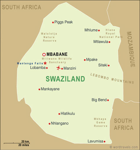 Swaziland BOOK OF DAYS TALES - What is the smallest country in africa