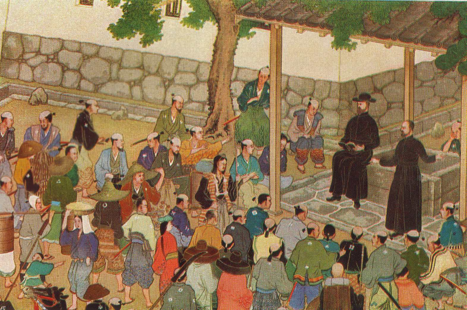 Image result for 1549 – Jesuit priest Francis Xavier comes ashore at Kagoshima, Japan