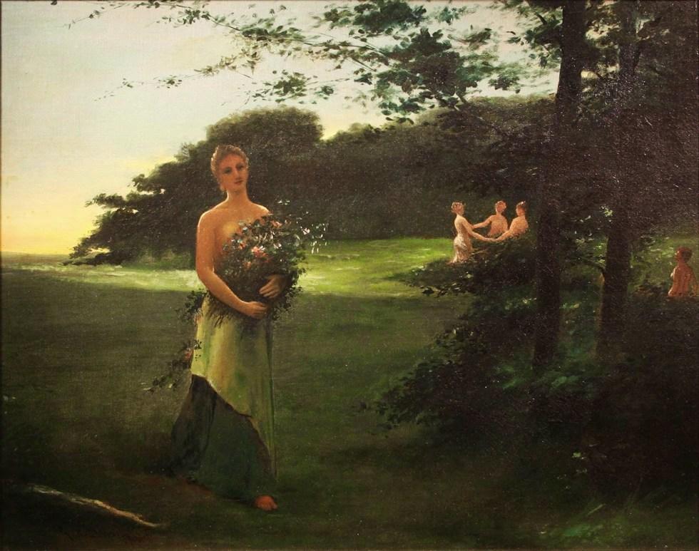 Arthur Bowen Davies (1862-1928), Juno and the Three Graces.