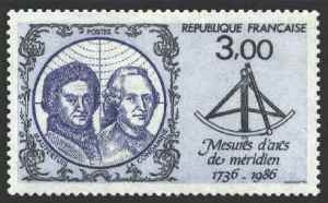 Meridian stamp 1736-1986