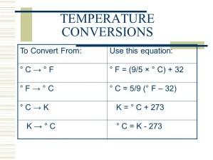 3 temperature conversions