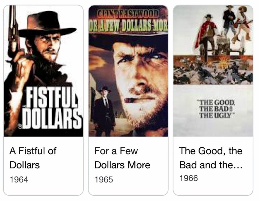 The Dollars Trilogy film dates