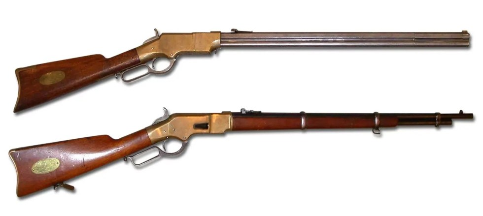 Sharps 1874, Winchester 1866 Yellow Boy Lever-Action Rifle, COLT 1851 (Cartridge Conversion)