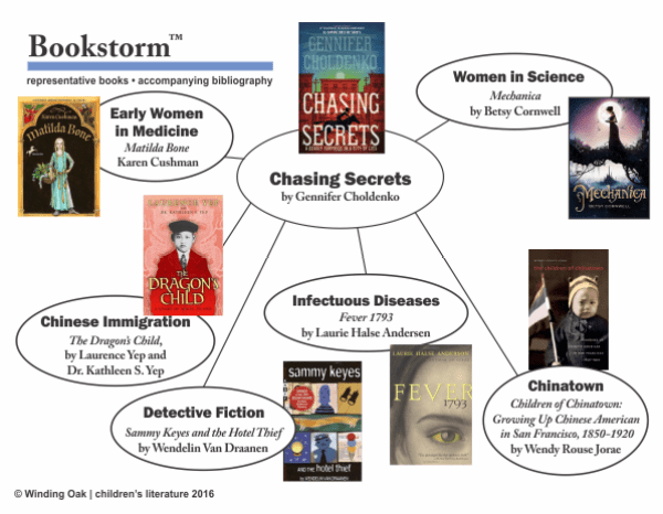 Bookmap for Chasing Secrets Bookstorm