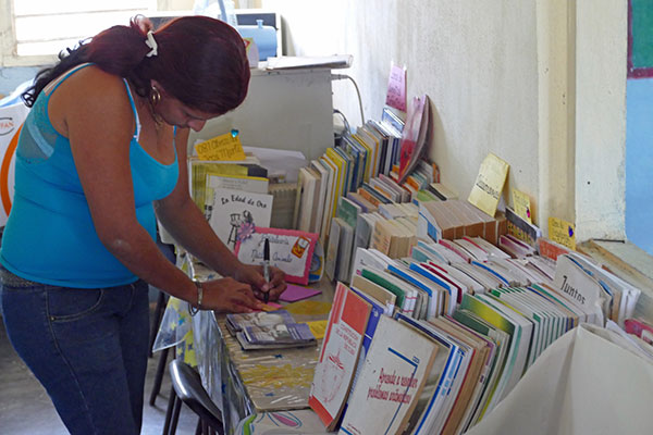 Mom with Books