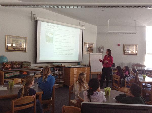 Melissa Stewart in the classroom