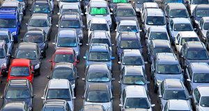 many, many cars