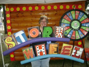 Lisa Bullard at the Alphabet Forest - Minnesota State Fair