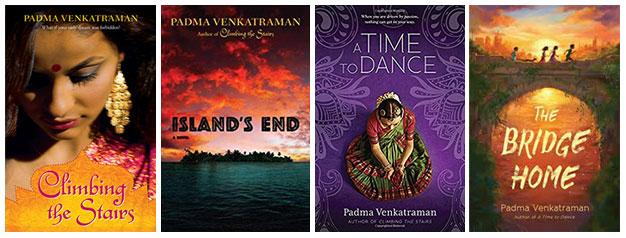Padma Venkatraman's four novels
