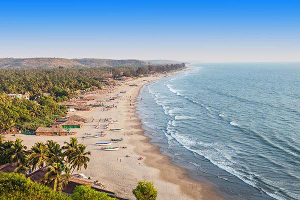 beach in Gao province in India