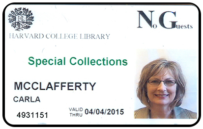 Harvard College Library card