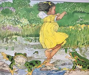 Wild Wild Sunflower Child Anna illustration