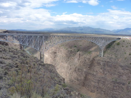 The bridge spanning the Rio Grande Gorge: