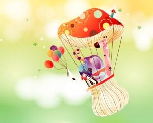 Children art illustration of cartoonland