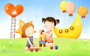 illustration art of children E PSD