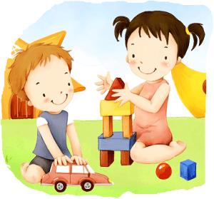 illustration art of children E PSD