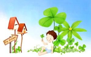 illustration art of children my dream