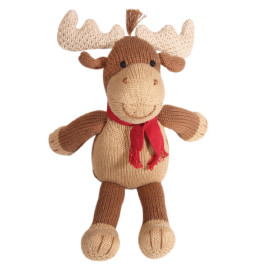Zubel hand knit toy moose