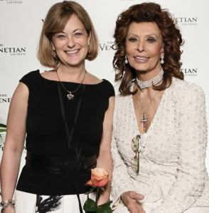 Melissa Muldoon and Sophia Loren