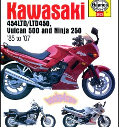 real book over 250 page shop service repair manual for 1985 1990 n450 1990 2007 en500 vulcan 500 1986 2007 e250 ninja ninja r with a complete step by  [ 797 x 1040 Pixel ]