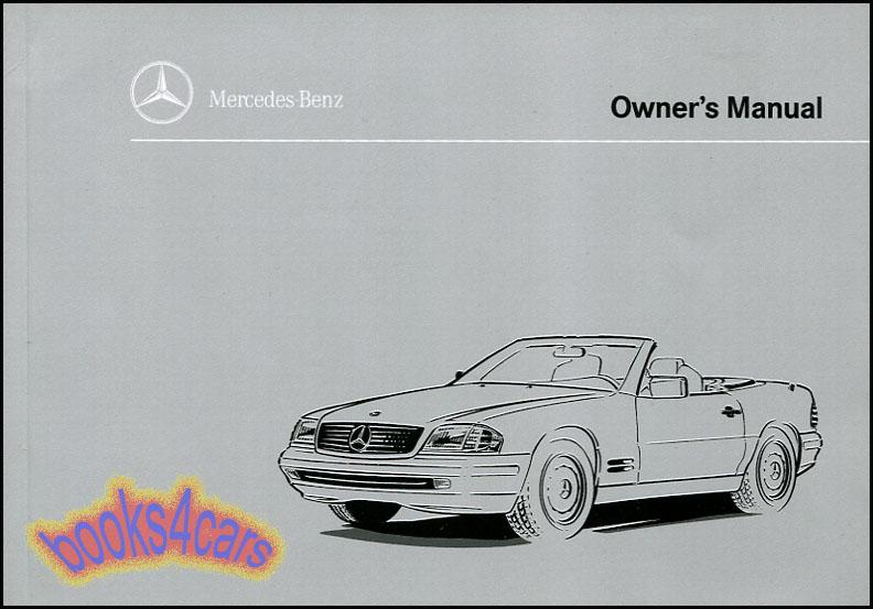 OWNERS MANUAL 1996 MERCEDES BOOK SL320 SL500 SL600 SL 320