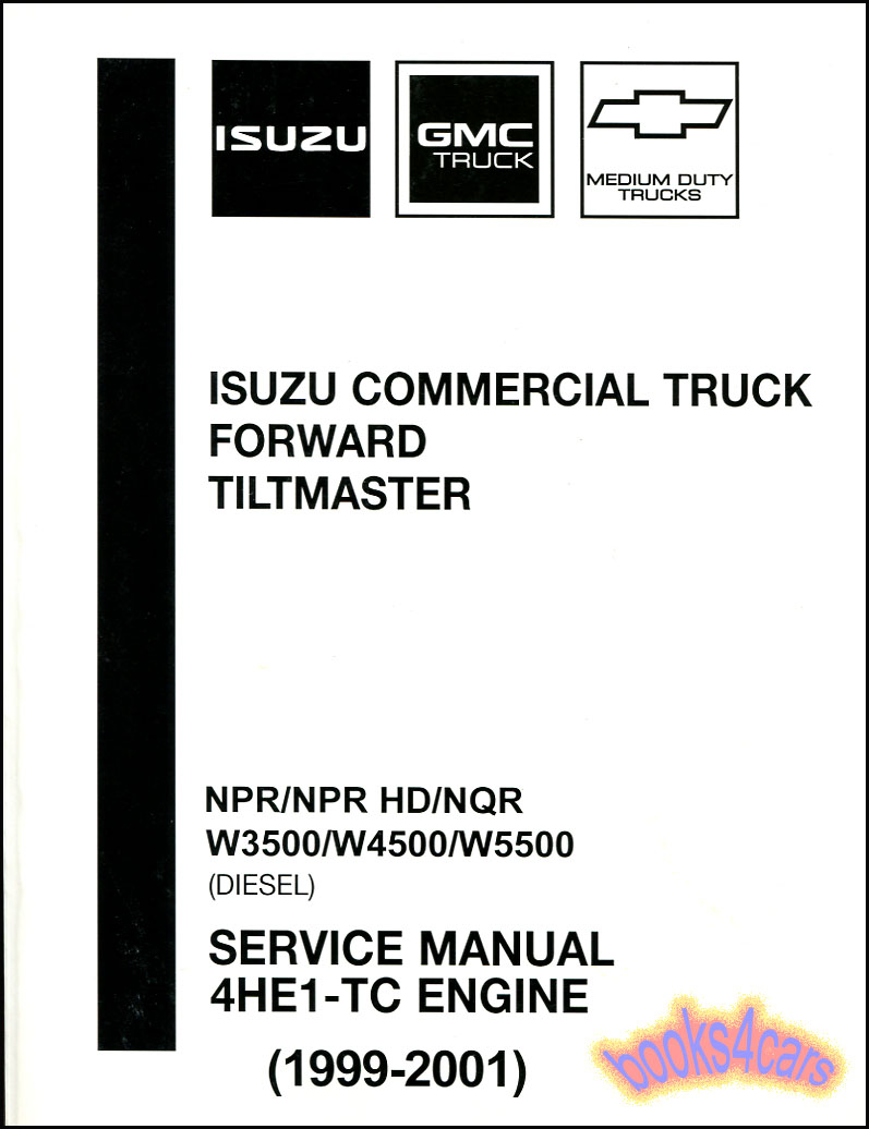 ISUZU NPR SHOP MANUAL DIESEL SERVICE REPAIR 4HE1 TC HD NQR