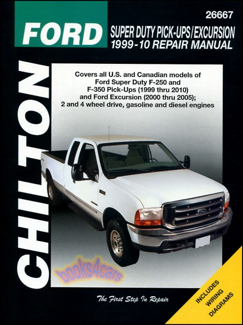 small resolution of ford f250 f350 shop service repair manual chilton book haynes pickup 4x4 truck ebay