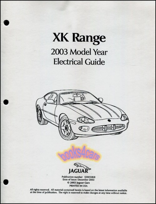 small resolution of details about jaguar xk8 manual electrical guide shop service repair wiring diagram 2003