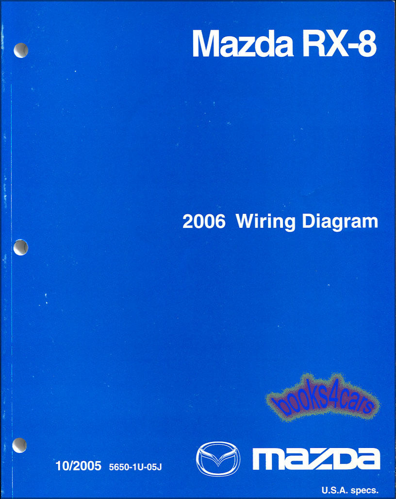 medium resolution of real book factory original manual wiring diagrams by mazda for 2006 rx8 in very good condition