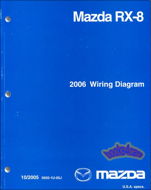 small resolution of real book factory original manual wiring diagrams by mazda for 2006 rx8 in very good condition