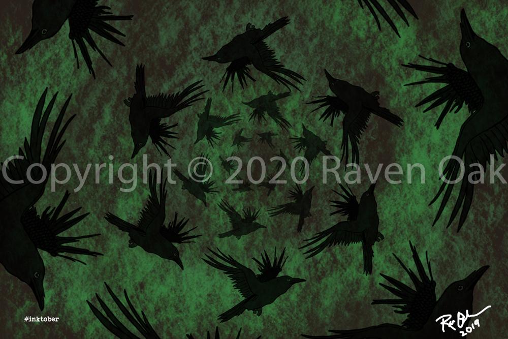 Pattern by Raven Oak. Inktober 2019.