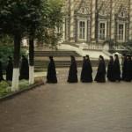 23 monks walking