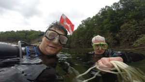 return to diving, me and dad