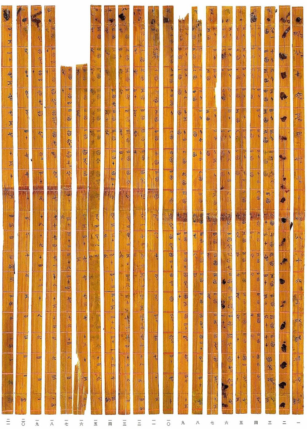 Chinese Multiplication Table Bamboo Strips