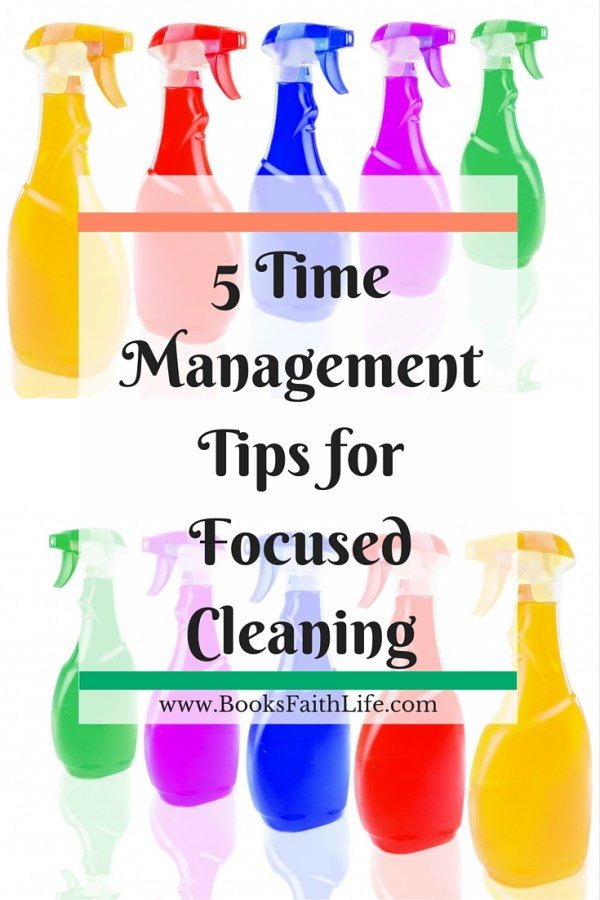 5 Time Management Tips for Cleaning. Stop getting distracted and discouraged. Use these 5 great tips for more productive, easy homemaking.