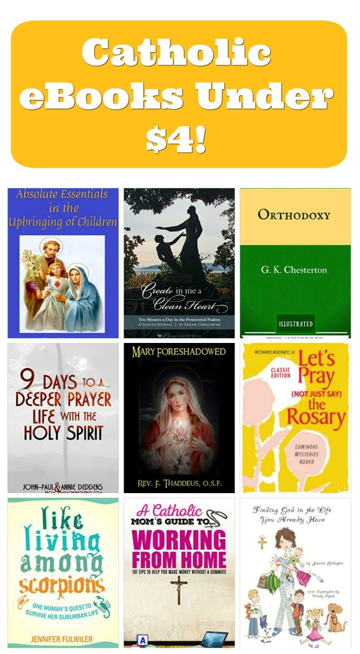 I absolutely love Kindle ebooks! Reading on my phone is my secret weapon to staying well-read as a busy Catholic mom. List of affordable, good books.