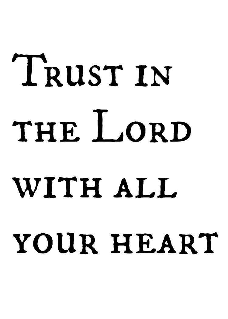 my word this year is Trust. Trusting in the Lord, and not my own abilities, failures, and fears.