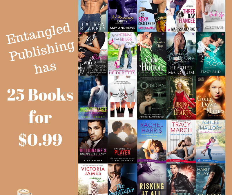 Entangled Publishing has 25 books for $0.99 – get 'em now!