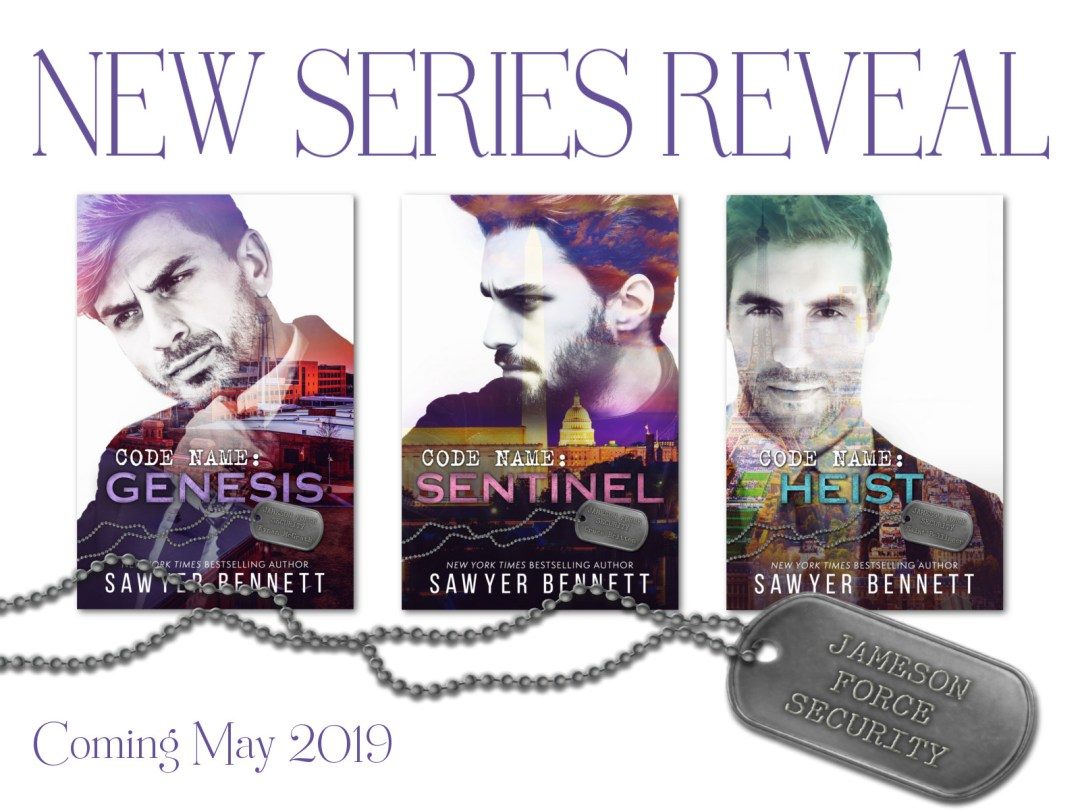 Graphic Jameson Security Force Series Reveal for USA Today Bestselling Author Sawyer Bennett....