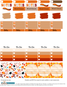 Fall Planner Stickers Final 230x300 Authors Dish Thanksgiving with USA Today Bestselling Author Robin Covington