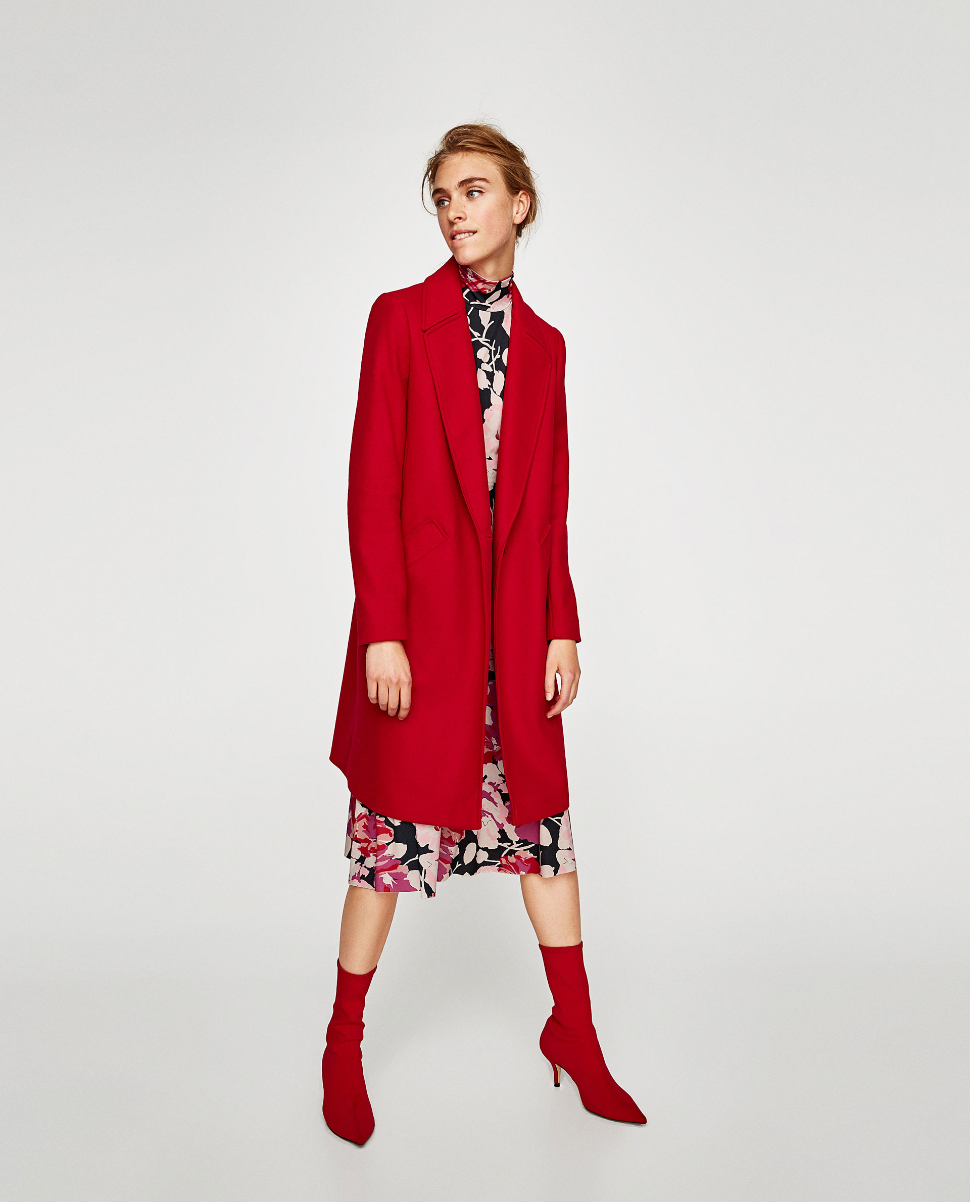 manteau rouge passion zara