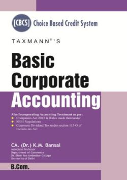 Basic Corporate Accounting (B.com) Choice based Credit System(CBCS)
