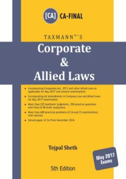 Corporate & Allied Laws (May 2017 Exam)s