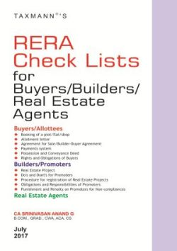 RERA Check Lists for Buyers/Builders/Real Estate Agents, 2017