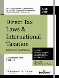 PRE- BOOK... DIRECT TAX LAWS & INTERNATIONAL TAXATION