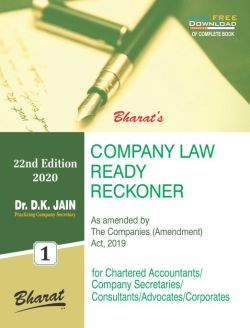 COMPANY LAW READY RECKONER [with FREE Download]