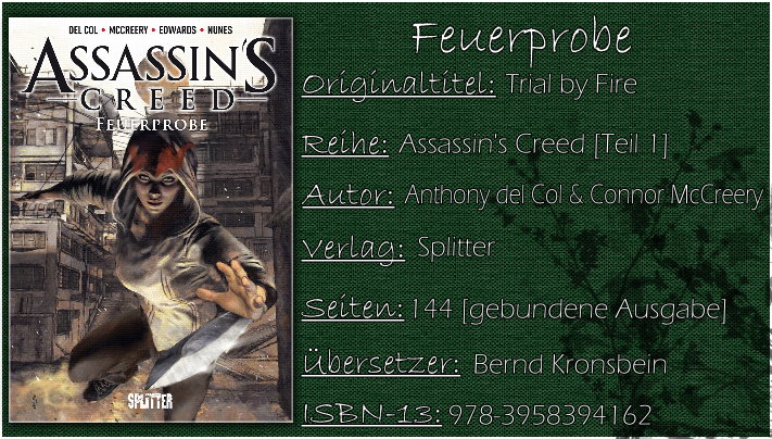 Assassin's Creed 01 - Feuerprobe von Anthony de Col und Conor McCreery (Graphic Novel)